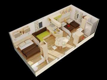 Mobil-home Confort Louisiane 30m2 - 2 chambres